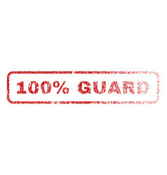 100 percent guard rubber stamp vector image vector image