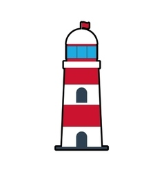 Lighthouse sea lifestyle nautical icon vector