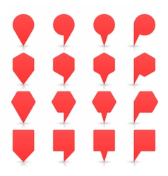 Red map pin sign flat location icon web button vector