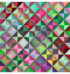 Seamless multicolor gradient triangle tiles vector