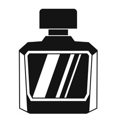Jar of perfume icon simple style vector