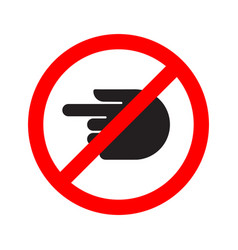 Turn forbidden sign hand vector