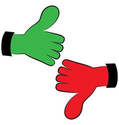 Art hand gesture like unlike vector image