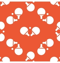 Orange table tennis pattern vector