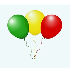 Balloons in as mali national flag vector