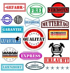 german rubber stamp vector image