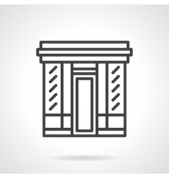 Book store facade simple line icon vector