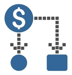 Cashflow toolbar icon vector