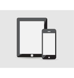 Modern phone tablet vector