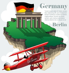 Germany country infographic map in 3d vector