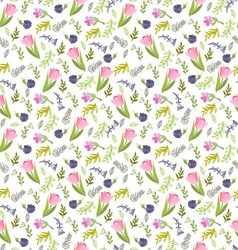 Summer pattern elegant seamless pattern with tulip vector