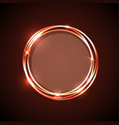 abstract background with orange neon circles vector image