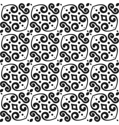 Abstract monochrome seamless hand-drawn pattern vector image