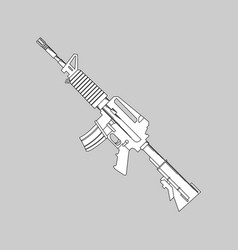 automatic firearms pistol rifle machine gun in vector image