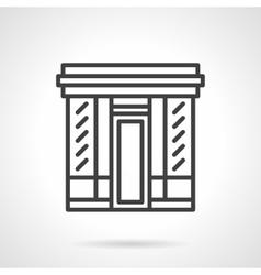 Book store facade simple line icon vector