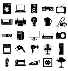 Collection flat icons Electrical devices symbols vector image