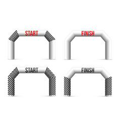 creative of finish line vector image