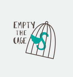 empty the cages vector image vector image