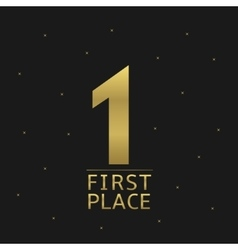 First place vector image vector image