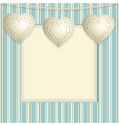 Hanging heart background vector
