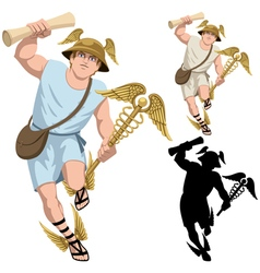 Hermes on White vector image