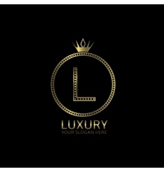 Luxury golden label vector image