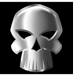 metal skull vector image