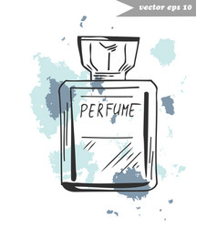 perfume fragnance vector image vector image