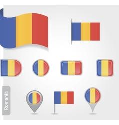 Romanian flag icon vector image vector image