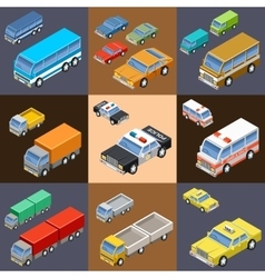 Set of isometric transport vector image vector image