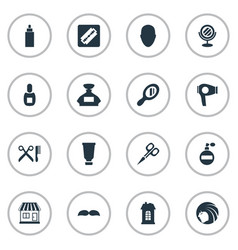 set of simple beautician icons vector image vector image