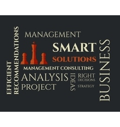 Smart solutions logo template with management vector