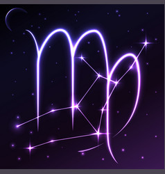 Space symbol of virgo of zodiac and horoscope vector
