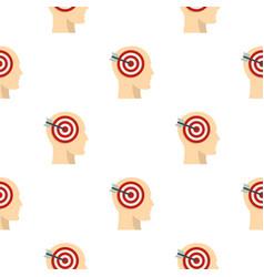 Target goal in human head pattern seamless vector
