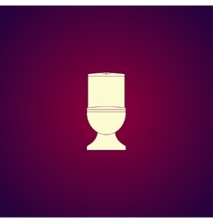 Toilet icon Flat design style vector image