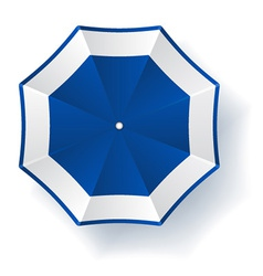 Umbrella blue white vector