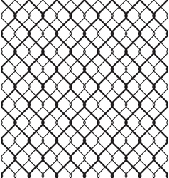 Wired metallic fence seamless pattern vector