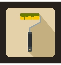 Paint roller icon flat style vector image