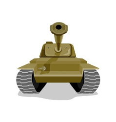 World war two battle tank vector