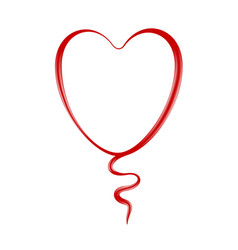 Heart in red design vector