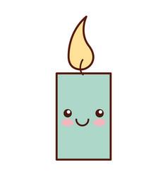 Aroma therapy candle spa kawaii character vector