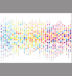 Abstract colorful halftone texture dots pattern vector