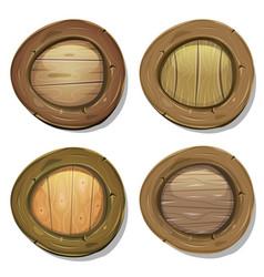 comic rounded wood viking shields vector image