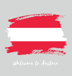 Austria watercolor national country flag icon vector