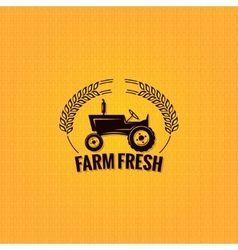 Farm tractor design background vector