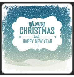 merry christmas vintage card template vector image