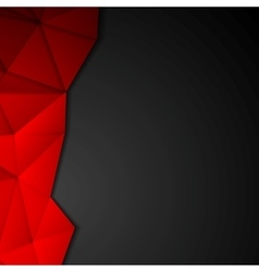 Dark abstract tech polygonal design vector