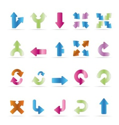 Server and computer icons - arrows vector