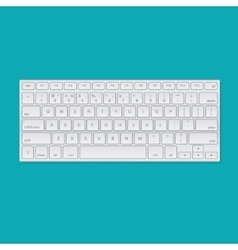 Computer keyboard isolated vector