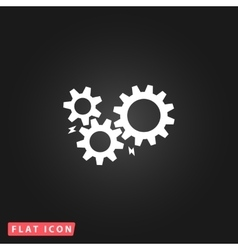 Gear with sparks vector
